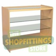 Flatpack Full Glass Showcase Shop Couner - Choice of Colour