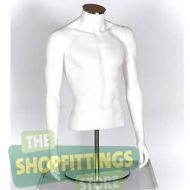 Male Torso Mannequin No Head With Arms White 2
